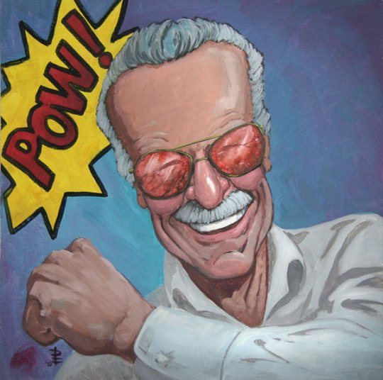 Portrait of Stan Lee by Don Flaws Done for the AFTERCON 2010 Show