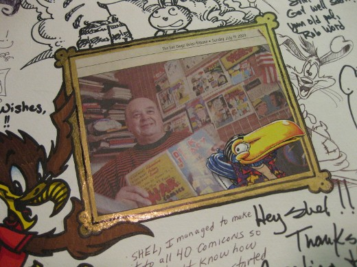 Close up of Shels picture on greeting card from Comic-Con International 2009. (Photograph from Matt Lorentz.)
